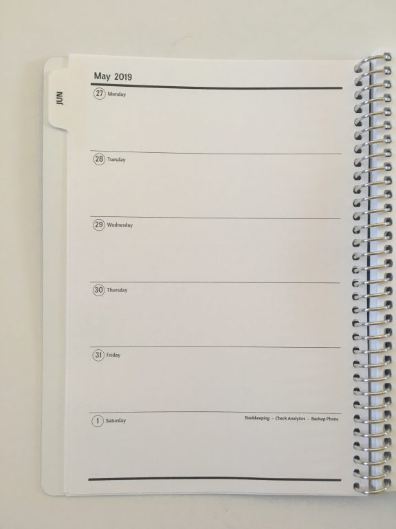 Agendio a5 weekly planner review custom personalised horizontal weekdays monday start project due checklist pre plan week_08