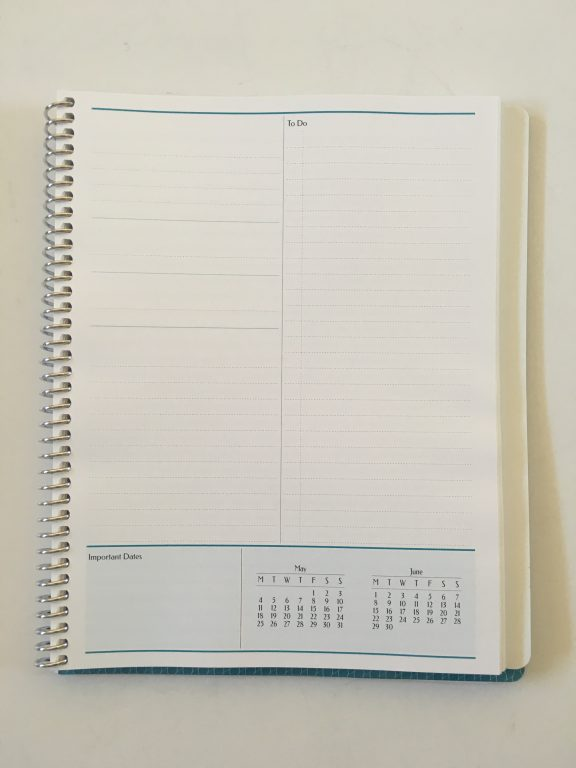 Agendio custom planner review monthly planning blog business personal medium size colorful list monthly calendar project planning personalised coil bound bright white paper_08