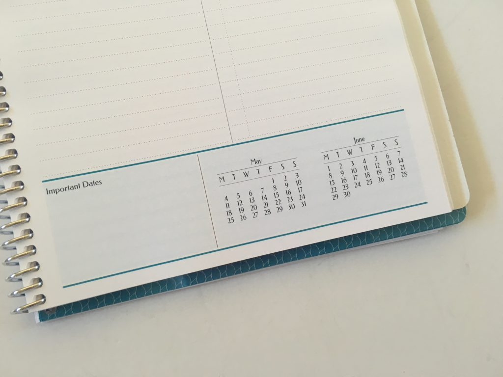 Agendio custom planner review monthly planning blog business personal medium size colorful list monthly calendar project planning personalised coil bound bright white paper_09