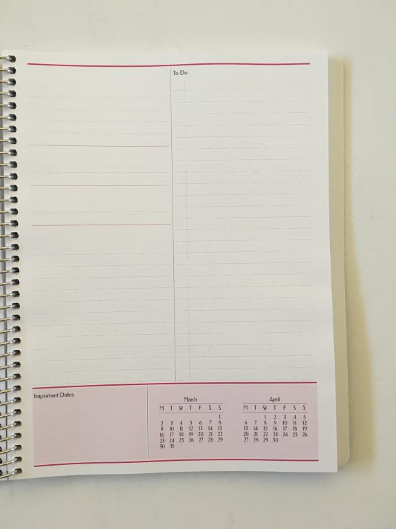 Agendio custom planner review monthly planning blog business personal medium size colorful list monthly calendar project planning personalised coil bound bright white paper_14