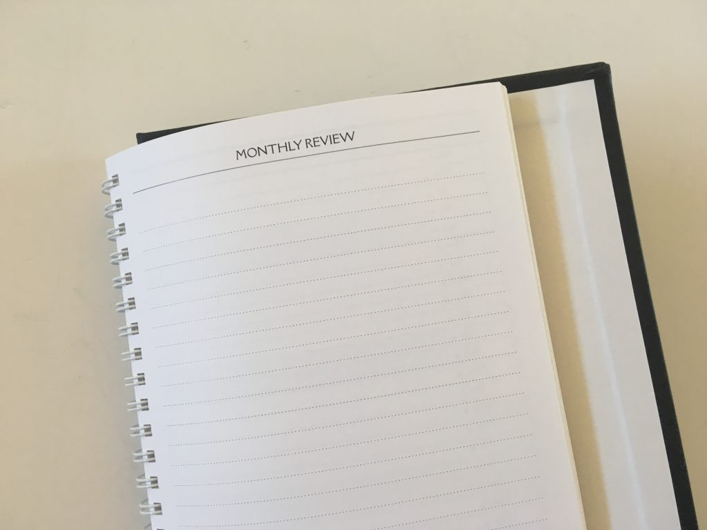 Agendio monthly planner review custom list style calendar format neutral hardcover wire bound lined simple custom pen testing pros and cons_09