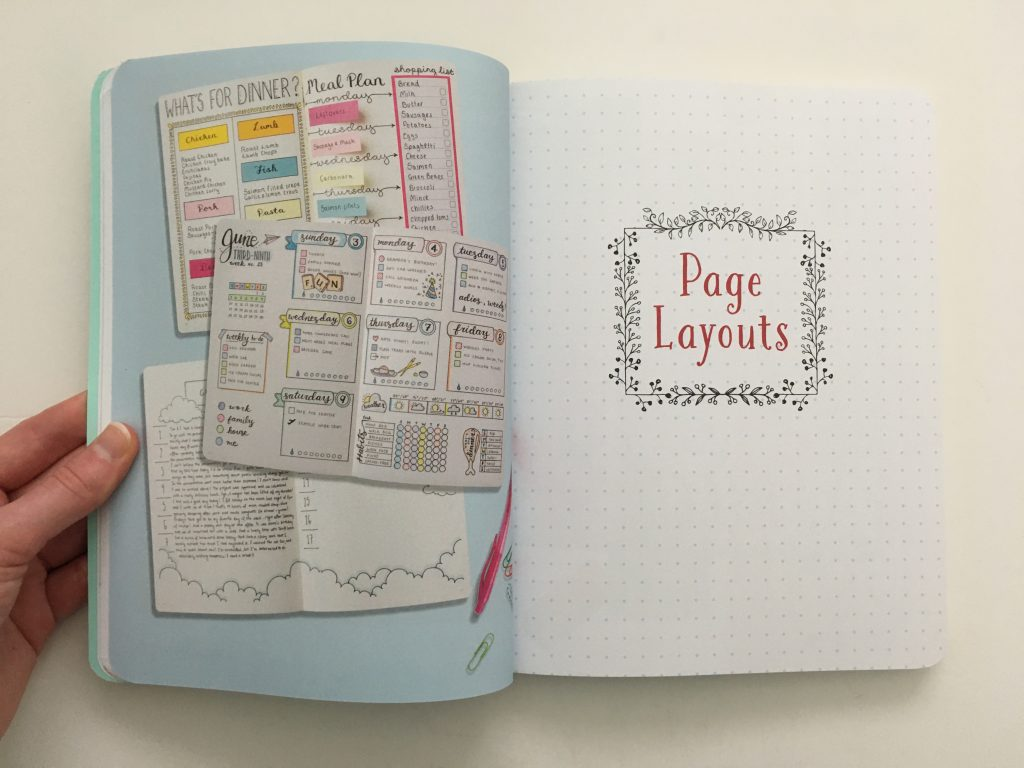 Hack Your Journal book review bullet journal inspiration layouts newbie beginner resources tips page layouts monthly daily weekly habit resources tools_08
