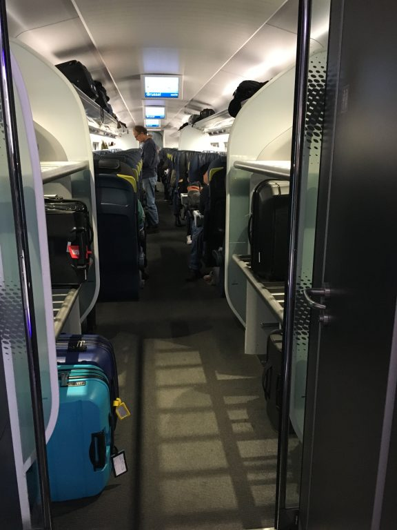 Eurostar train review Amsterdam Netherlands to Brussels Belgium pros and cons worth the time and money do I recommend tips cost luggage storage
