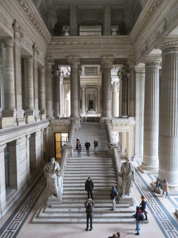 Palais de Justice de Bruxelles otherwise known as the Law Courts of Brussels stairs brussels photo spots instagram impressive architecture 2 day itinerary weekend