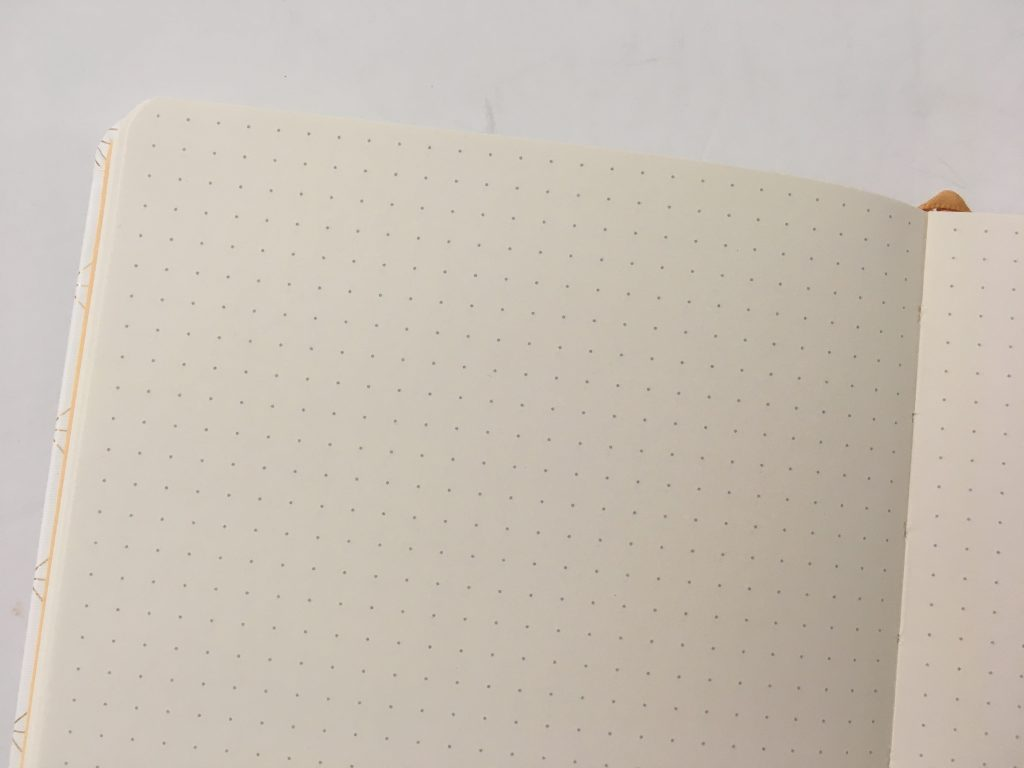 Miliko dot grid notebook review pros and cons pen testing pretty sewn bound bujo classy white cover 5mm dot grid white amazon pen testing paper quality_07