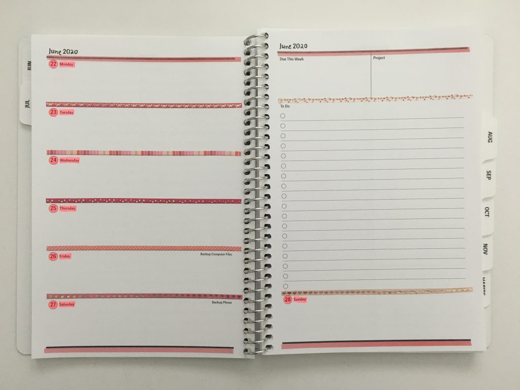 agendio a5 weekly spread ideas simple quick easy ways to decorate a planner horizontal monday week start