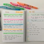 Trying out my custom Agendio bullet journal (is a 0.25″ grid too big?)