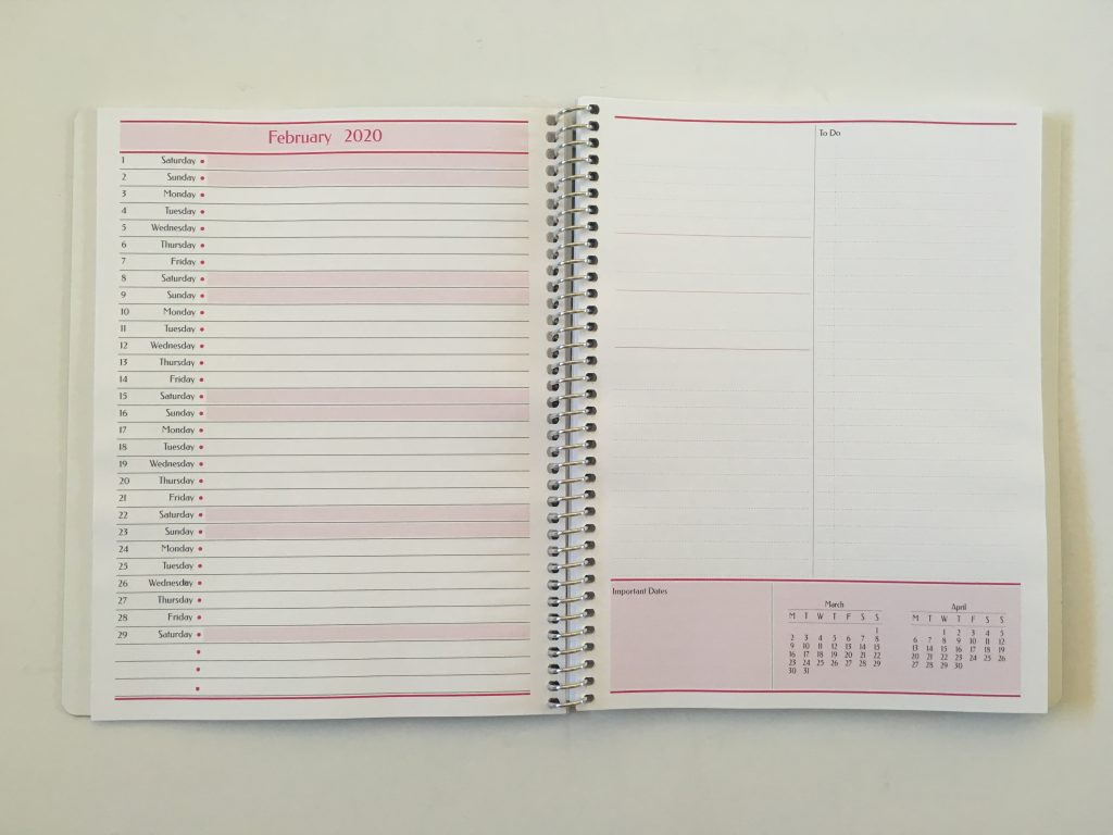 agendio monthly planner custom personalised colorful non-traditional perpetual list checklist pros and cons project planning a5