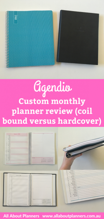 agendio monthly planner review custom coil bound hardcover list format colorful project planner checklist lined personalised pros and cons video pen test