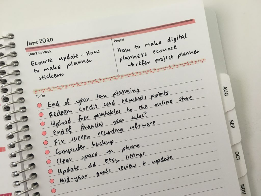 agendio weekly planner simple spread using washi tape mambi skinny decorating ideas