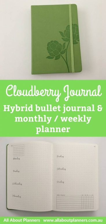 cloudberry journal hybrid bullet journal and monthly weekly planner pros and cons video flipthrough collections key index pre-printed dot grid numbered pages