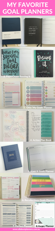 favorite goal planners paper planners best planners for goals budiness blogging productivity roundup recommended all about planners