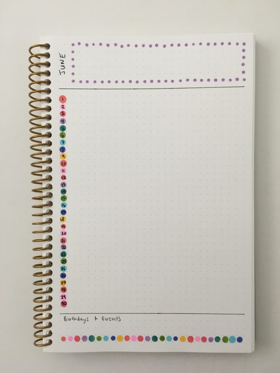 how to use dot markers in your planner rainbow simple color coding quick easy zig kuretake rainbow list style format monthly calendar