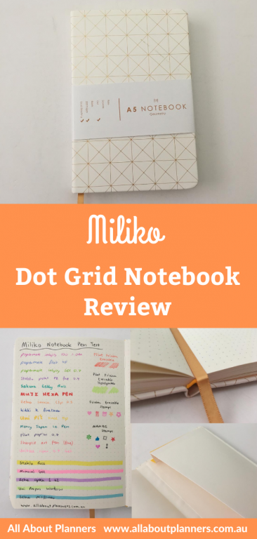 miliko dot grid notebook review pros and cons pen testing paper quality pretty cute sewn bound