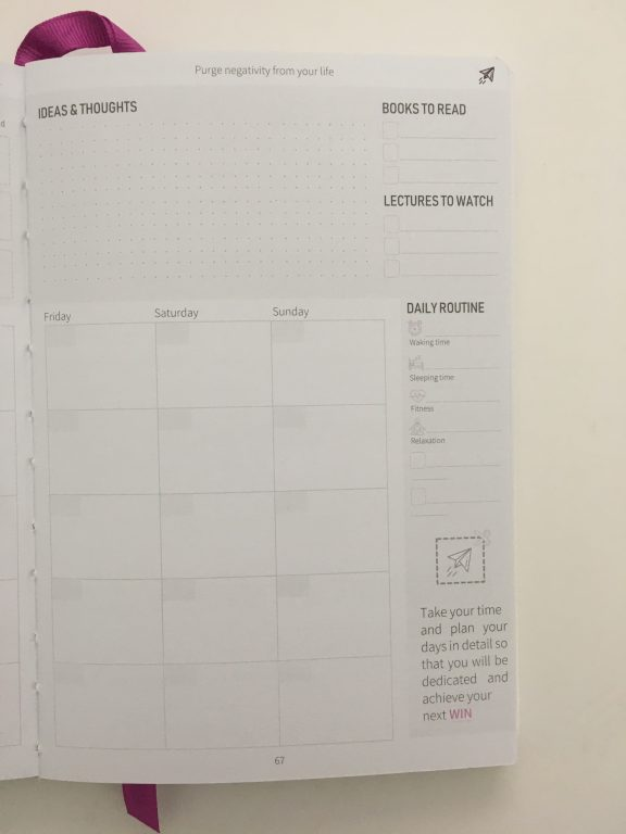win planner review horizontal weekly spread timed layout hourly half hour appointments video pros and cons_41