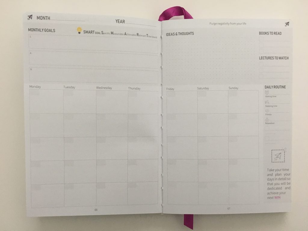 win planner review horizontal weekly spread timed layout hourly half hour appointments video pros and cons_42