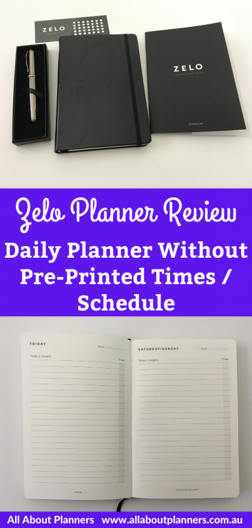 zelo planner review daily planner minimalist 1 day per pay no schedule section or pre printed times to do list minimalist gender neutral pros and cons video flipthrough