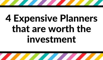 4 Expensive Planners that are worth the investment
