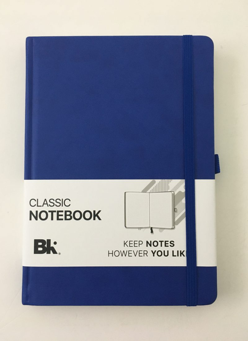 Bullet keeper dot grid notebook review pros and cons white paper pen testing ghosting bleed through a5 page size blue cover cheap_01
