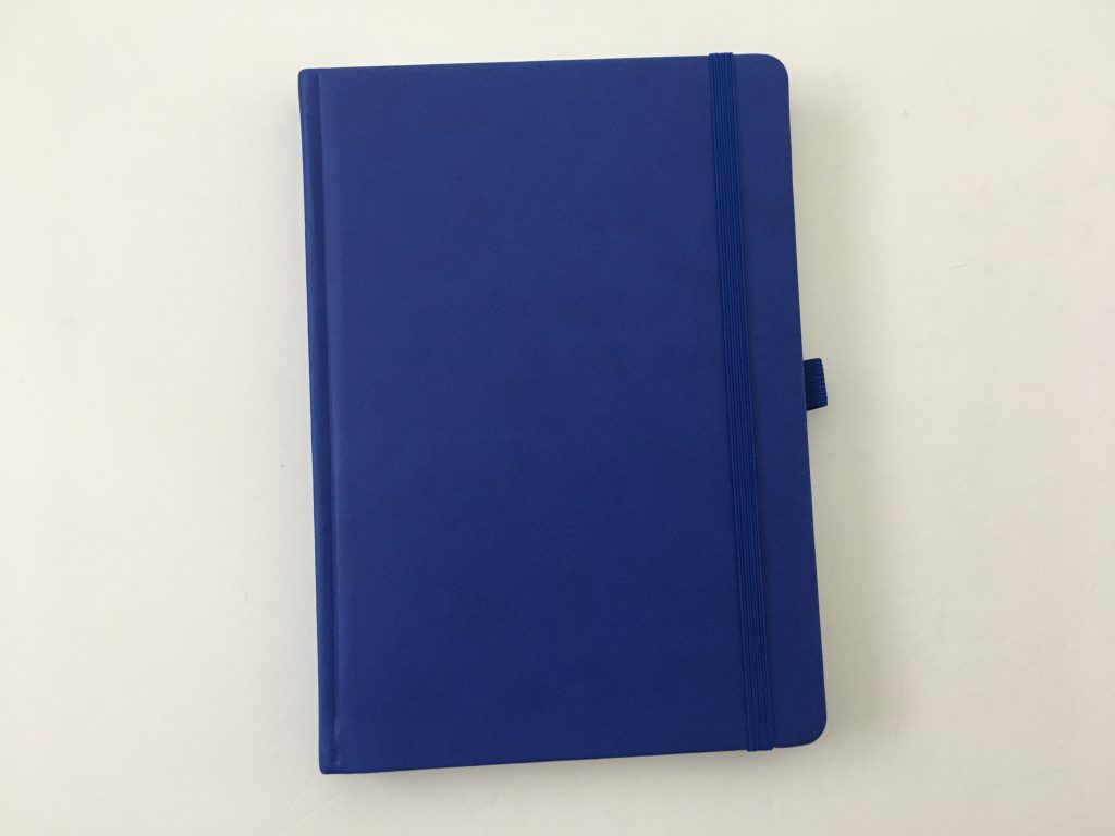 Bullet keeper dot grid notebook review pros and cons white paper pen testing ghosting bleed through a5 page size blue cover cheap_05