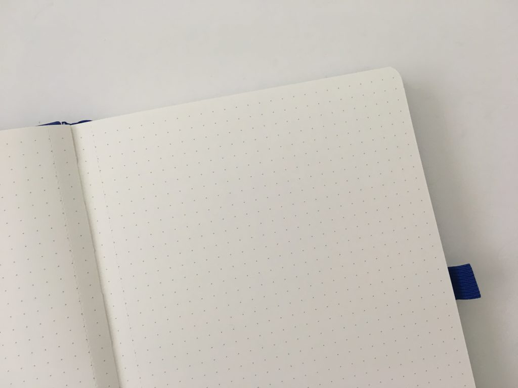Bullet keeper dot grid notebook review pros and cons white paper pen testing ghosting bleed through a5 page size blue cover cheap_07