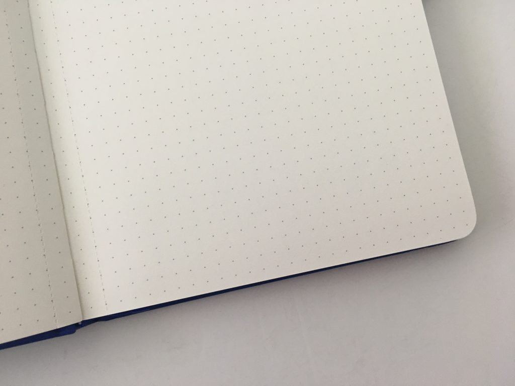Bullet keeper dot grid notebook review pros and cons white paper pen testing ghosting bleed through a5 page size blue cover cheap_08