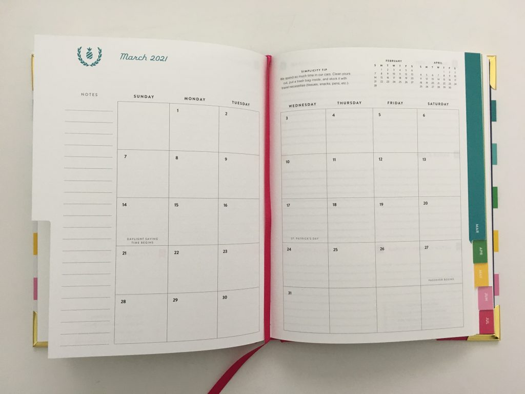 Emily ley simplified weekly planner review pros and cons video rainbow horizontal monday start hardbound is it worth the cost video flipthrough all about planners_04