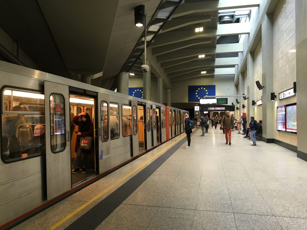 brussels metro train how to get around public transport underground cost itinerary