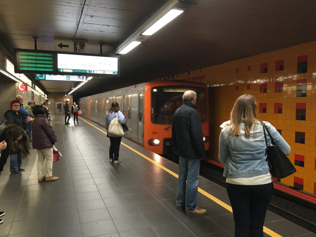 brussels metro train how to get around public transport underground cost itinerary airport train