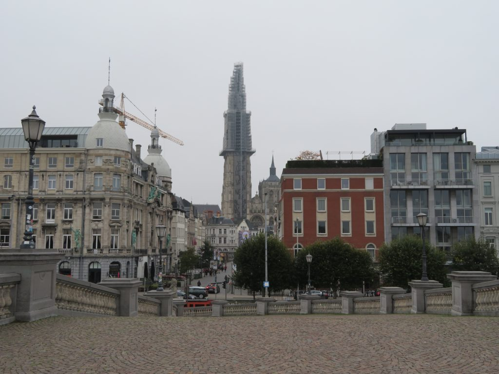 Godin Minerva viewpoint antwerp cruise terminal looking back at the main square cathedral of our lady best photospots things to see and do