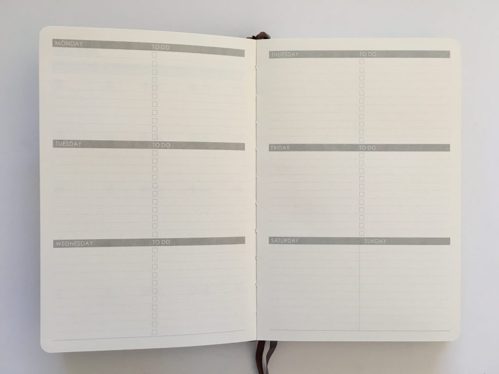 Lemome weekly planner review pros and cons monday week start horizontal habit tracker sewn bound hardcover review video_10
