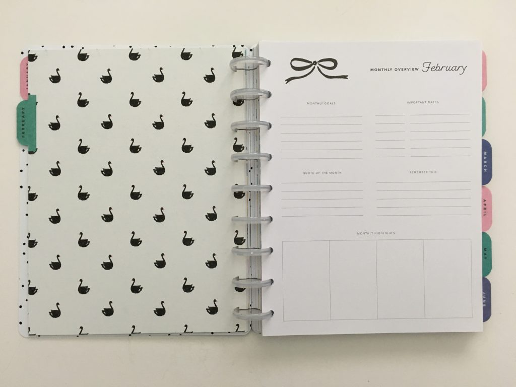 Maggie Holmes day to day planner discbound vertical weekly minimalist similar alternative to mambi happy planner floral_11