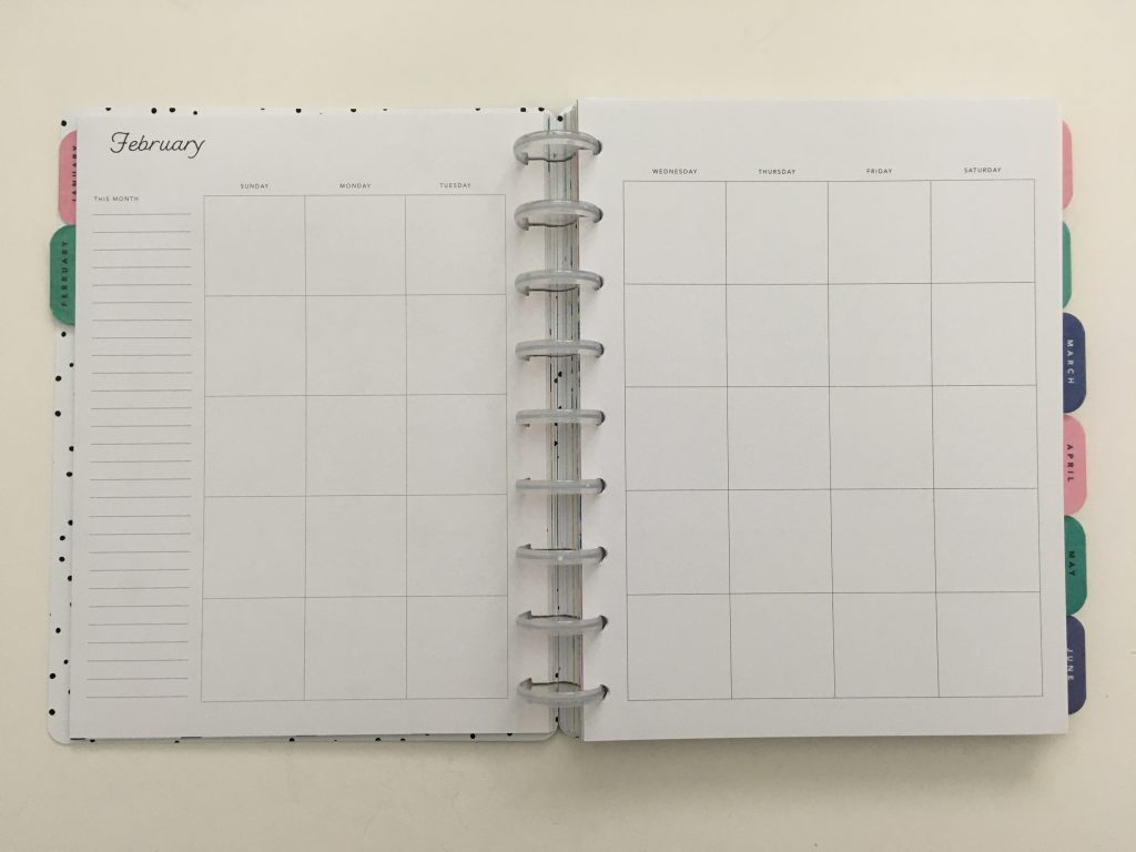 Maggie Holmes day to day planner discbound vertical weekly minimalist similar alternative to mambi happy planner floral_13