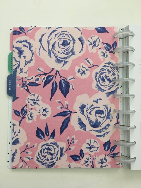 Maggie Holmes day to day planner discbound vertical weekly minimalist similar alternative to mambi happy planner floral_17