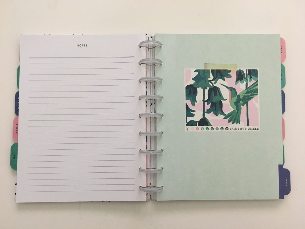 Maggie Holmes day to day planner discbound vertical weekly minimalist similar alternative to mambi happy planner floral_19