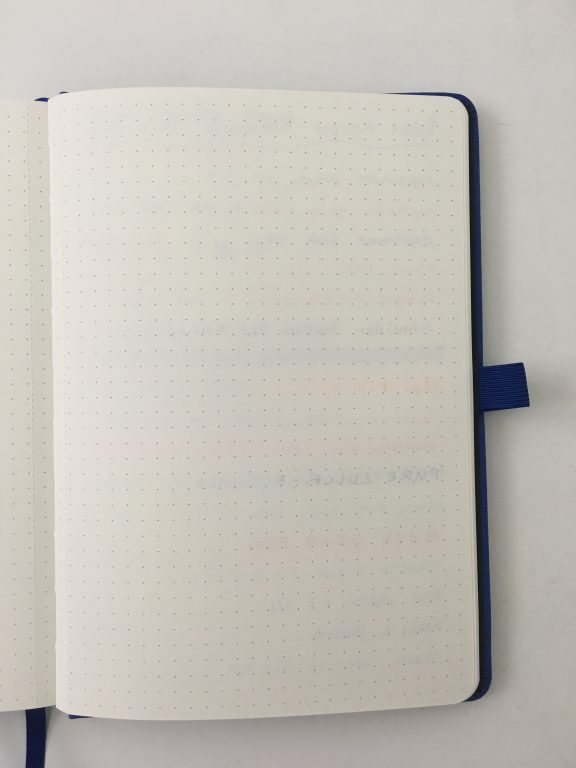 bullet keeper notebook pen testing paper quality ghosting bleed through highlighters fine tip gel pens dot grid bullet journal mid price