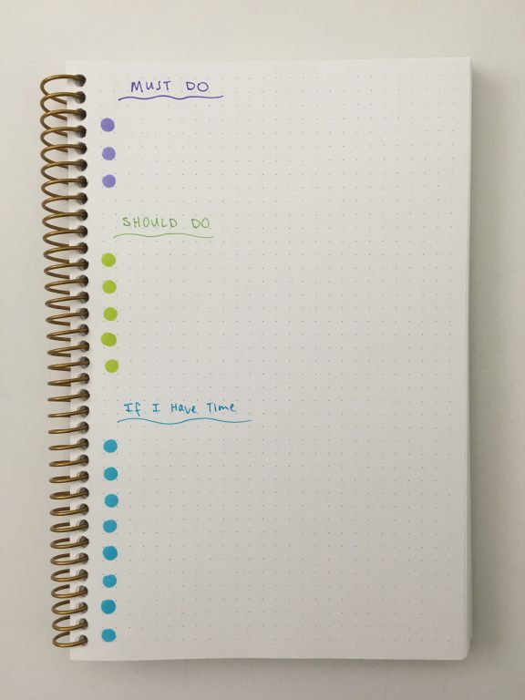 color coded to do list bullet journal page layout ideas simple spread quick easy tombow play color k rainbow