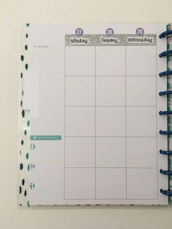converting mambi happy planner monthly calendar into weekly dot marker glitter washi carpe diem sticker simple minimaliat_03