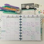 Using a monthly calendar for weekly planning