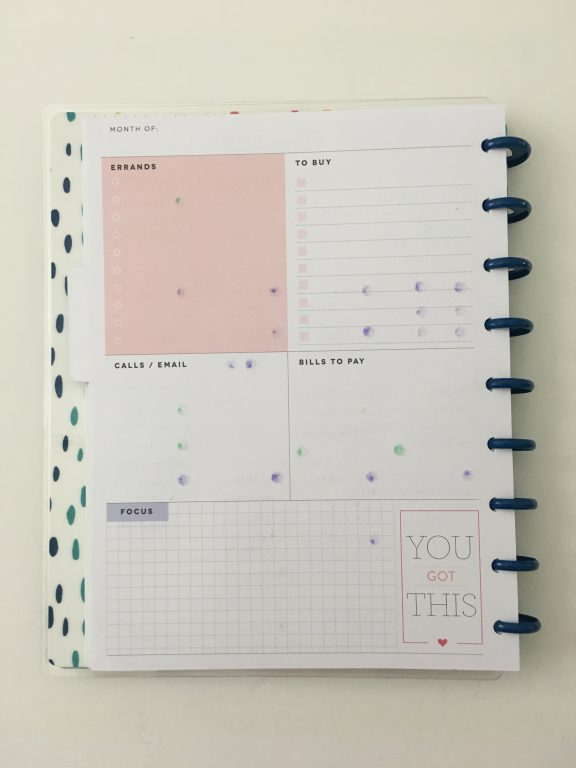 converting mambi happy planner monthly calendar into weekly dot marker glitter washi carpe diem sticker simple minimaliat_14