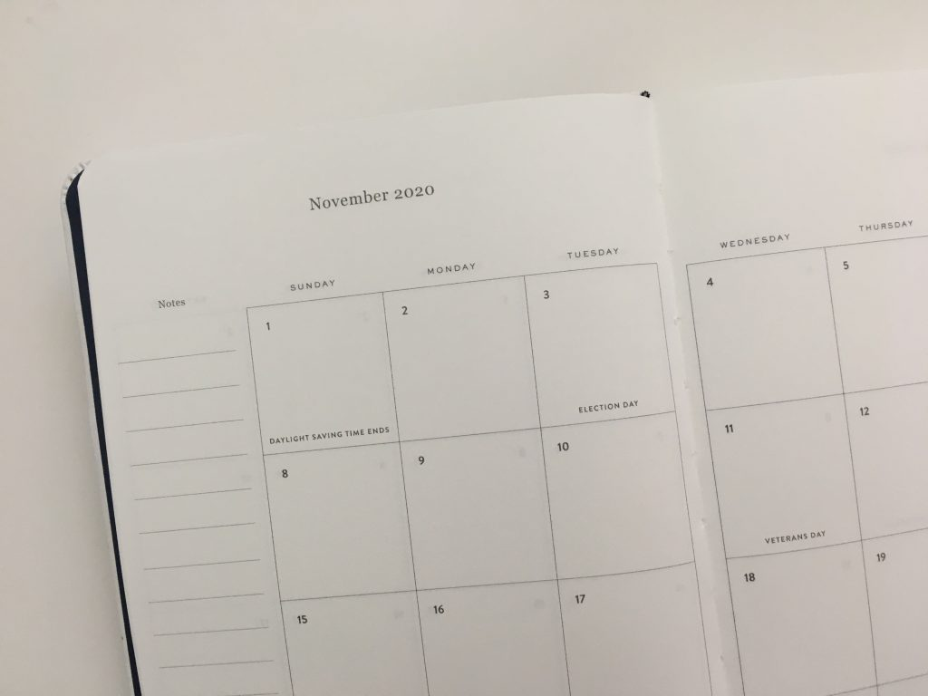 dapperdesk daily planner review emily ley dapper desk bookbound day to a page daily schedule to do list monthly calendar simplified video pros and cons honest review minimalist_07