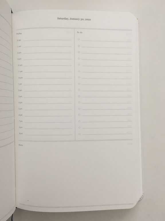dapperdesk daily planner review emily ley dapper desk bookbound day to a page daily schedule to do list monthly calendar simplified video pros and cons honest review minimalist_10