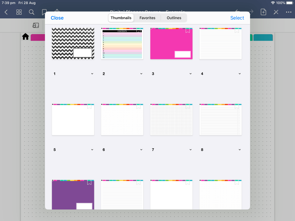 digital bullet journal page preview how to duplicate add favorites bookmark digital planner bujo notebook beginner newbie-min