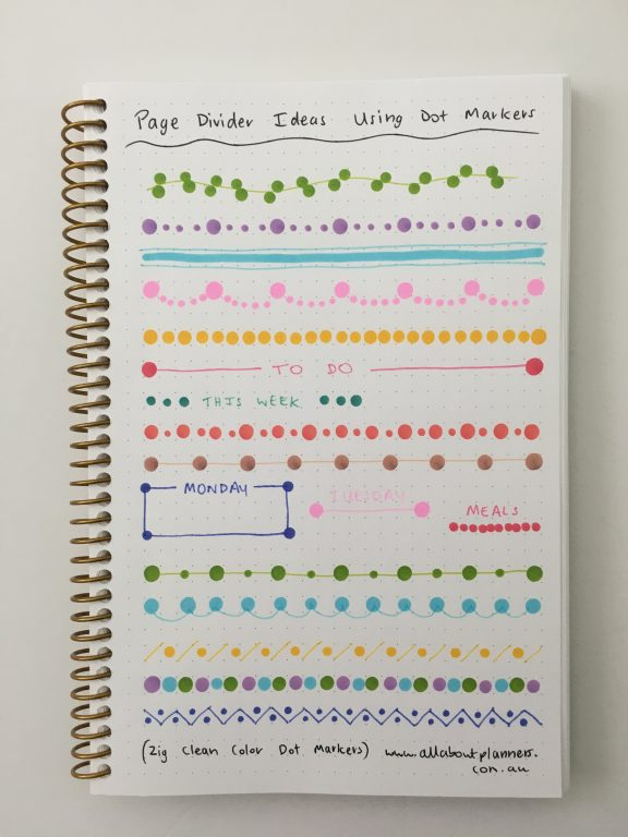 dot marker divider ideas simple quick easy minimalist zig kuretake versus tombow play color k favorite planner supplies you've probably never heard of