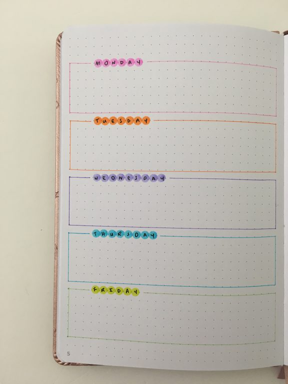 dot marker tombow review uses rainbow weekly spread colorful simple quick easy bullet journal bujo
