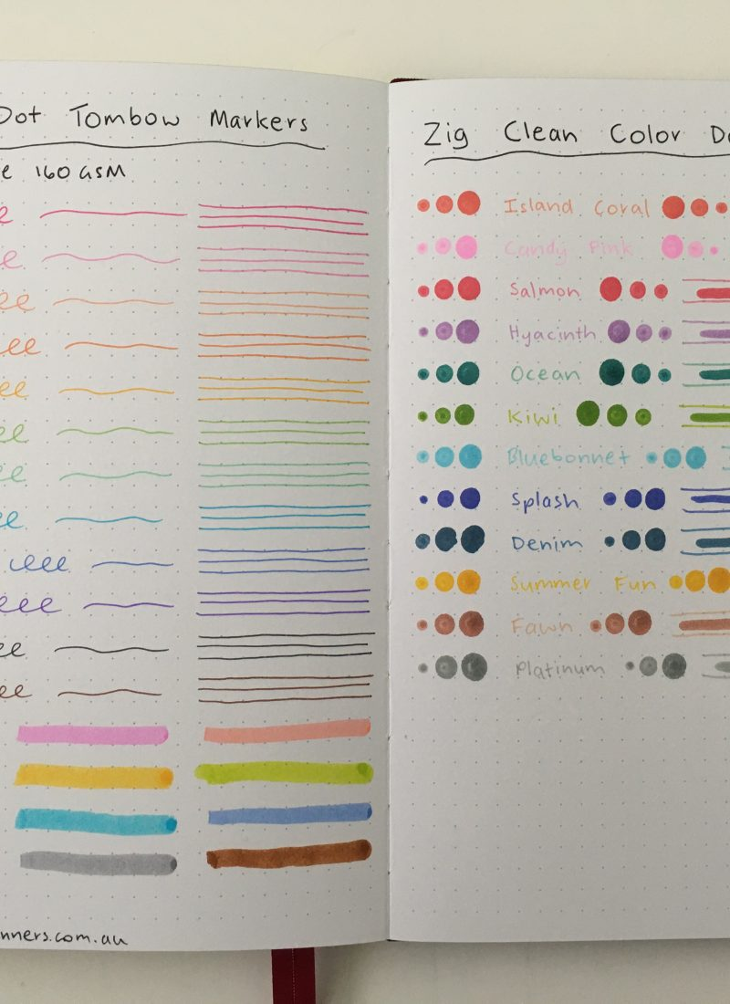 Dot Marker Comparison: Zig Kuretake Clean Color Dot versus the Tombow Play Color Dot