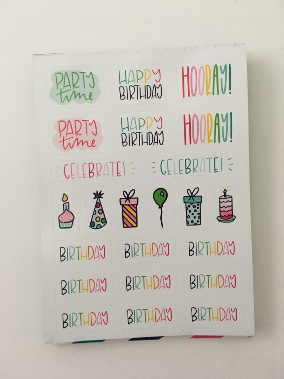 emily ley planner stickers review bright rainbow colors functional decorative