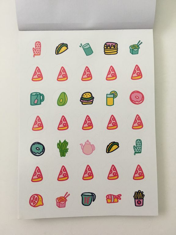 emily ley planner stickers review bright rainbow colors functional decorative food icons