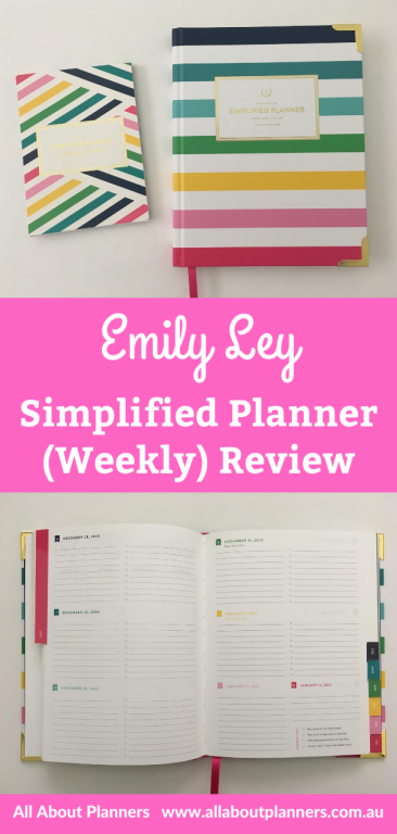 emily ley weekly planner review simplified planner rainbow stripe hardcover monday week start ghosting video flipthrough pros and cons is it worth the money
