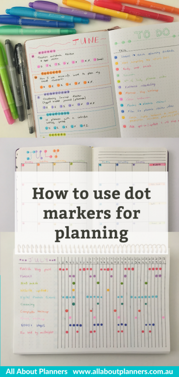 hot to use dot markers for planning spread ideas tips inspiration handy planning tools tombow play color dot zig dot marker